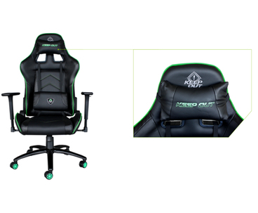 SILLA GAMING KEEPOUT XS400 PRO BLACK/GREEN
